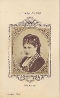 Gabrielle Krauss Soprano Francia Austria Figaro-álbum Carte de visite Albúmina