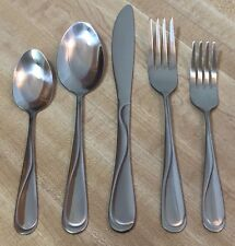 Gibson Stainless China, Gibson Trillium Flatware Silverware 15pc Set for 3