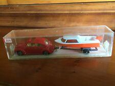 Majorette 314 - Hors Bord - Volkswagen N° 202 Rouge + Remorque. En Boîte