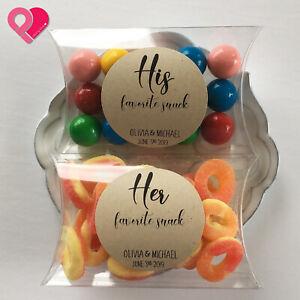 PVC Plastic Clear Transparent Pillow Rectangle Gift Favor Candy Nut Box Bulk >12
