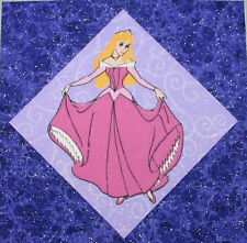 9 Princess Quilt Top Blocks Cinderella, Snow White,  Belle, Sleeping Beauty