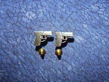 Pistol Firearms Lapel/Hat Pin Tie Tacks 2 ~ Glock .40 ? Hand Gun