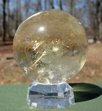 Citrine Sphere / Crystal Ball with Rainbow