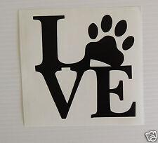 """""""el amor con Paw Print"""" con el logotipo parachoques calcomanía / etiqueta adhesiva / vehicles/pets/dogs"""