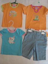 Carters 18 Month Capri Pant 3 Ocean Baby Shirts NWT Cat Frog Dream