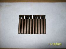 """Slotted #10-12 bits,2"""" long, MADE IN USA- 10 qty"""