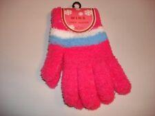 ladies winter wear soft gloves cozy stripe pink new