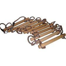 Kletterleiter Seilleiter 3 50 M Holzsprossen Strickleiter 10 Sprossen schwer
