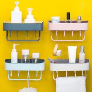 Bath Shower Shelf Organizer Bathroom Kitchen Storage Holder Rack Punch-free
