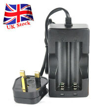 DC 4.2V UK Plug Dual Slot Universal Rechargeable 18650 Li-ion Batteries Charger