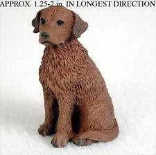 Chesapeake Bay Retriever Mini Resin Hand Painted Dog Figurine