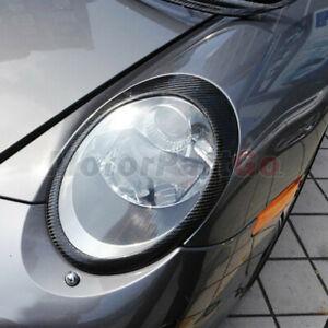 Real Carbon fiber Eyelid Eyebrow Cover Trim For Porsche 911 Carrera 997 05-2012