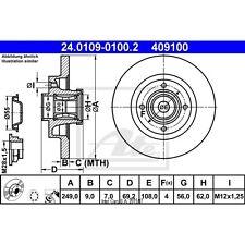 Bremsscheibe, 1 Stück ATE 24.0109-0100.2