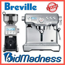 BREVILLE BEP920BSS the DYNAMIC DUO DUAL BOILER COFFEE MACHINE w/ SMART GRINDER