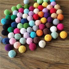100 Pieces Wooden Beads Crochet*20mm* 100%COTTON