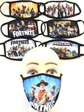 Kids Fortnite Minecraft Face Cover Shield Mask Double Layer Cotton CA USA