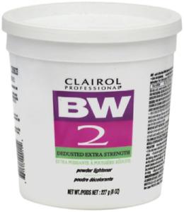 CLAIROL BW2 HAIR BLEACH POWDER LIGHTENER,  EXTRA -STRENGTH 8oz TUB