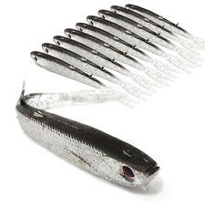10PCS 75mm 2.2g Soft Minnow Fishing Lure Tiddler Swimbait Artificial Bait Tackle
