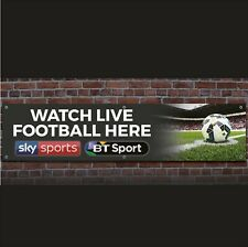 More details for sky bt sport printed banner 31cm x 130cm ideal for pub  live football here