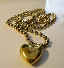 Noble Ball Silver Chain with Heart Pendant Swarovski 925 Silver Gold Plated