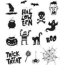 Stampers Anonymous Tim Holtz Cling Stamp Set Spooky SCRIBBLES Cms349