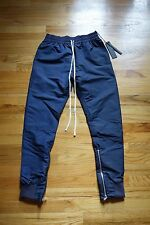 KITH X Fear of God Track Pant Navy Fourth Collection Sz S FOG Indigo Jeans White