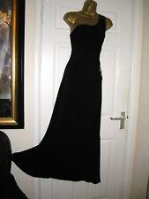 8 PETITE OLI BLACK EMBELLISHED MAXI DRESS ONE SHOULDER STRETCH  XMAS PARTY