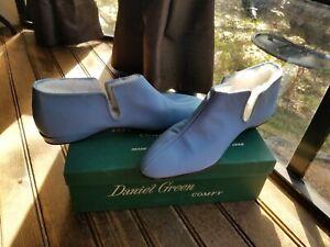 Daniel GREEN Vintage Sorority Womens  House Shoe Slippers Powdered BLUE 2A90