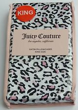 JUICY COUTURE LOS ANGELES SATIN PILLOWCASES KING LEOPARD NEW AUTHENTIC