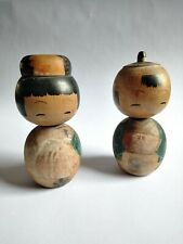 Vintage Kokeshi bobble-headed dolls