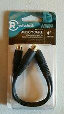 "RadioShack 4"" Shielded Audio Y-Cable RCA Male to Dual RCA Phono Female  4201144"
