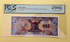 2011F $1 Pirates O/T Caribbean Disney Dollar PCGS Graded Superb Gem New 67PPQ