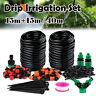 Automatic Timer+40M/30M Water IRRIGATION Micro Drip Watering System for Garden