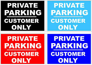 CUSTOMER PARKING ONLY SIGN PRIVATE PARKING SIGN SHOP SIGNS PUB SIGNS