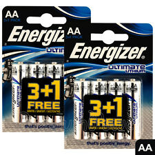 8 x Energizer Ultimate Lithium AA batteries 1.5V L91 LR6 MN1500 Camera EXP:2036