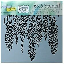 """Wisteria Flower Stencil 6"""" Floral Leaf Vine Leaves Wall Paint Art Craft Template"""