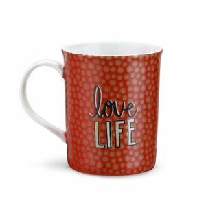 LOVE LIFE Butterfly Porcelain Mug in Gift Box  New
