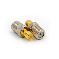 F Female Jack to SMA Female Jack Straight Coaxial Coax RF Adapter Connector *T