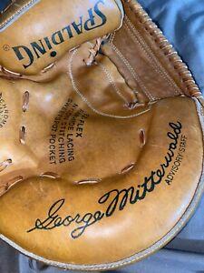 1970s Spalding George Mitterwald unused catchers mitt