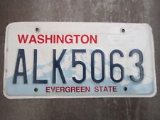 Washington (ALK5063) American License Number Plate Collecting Craft Hobby