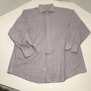 Brooks Brothers 346 SLIM FIT Lavender Plaid Button Down Shirt Mens Sz 17 1/2-2/3
