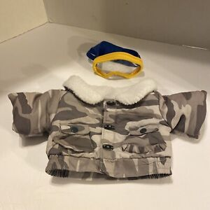 Build A Bear Workshop Plush Clothes Camo Coat Goggles Ski Winter Outdoors Outfit