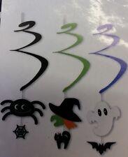 Espiral de Halloween Decoración Colgante 3x-Araña Bruja-Ghost-web-Cat - Bat