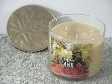 BATH & BODY WORKS 3 WICK 14.5 OZ AUTUMN FALL CANDLE ~CIDER LANE~