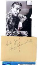 More details for hoagy carmichael vintage signed album page aftal#145