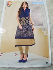 """BOLLYWOOD STYLE BTFLY EMBROIDERED KURTI WITH MATCHING LEGGINGS SIZE 44"""""""