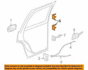 New GM OEM Lock Rear Left Door Hinge Left  12476451
