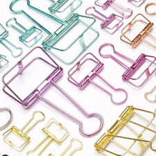 Colorful Hollow Metal Binder Clip Note Letter Paper Clip Office Supply S/M/L New