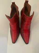 jeffrey campbell X free people Red Matterhorn Western Boots Size 6