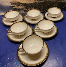 Syracuse Porcelain China Grace Cup/Saucer 12 Piece Set Mint